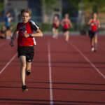 ungdom barn löpning